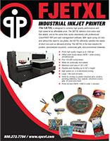 brochure for the FJetXL flatbed inkjet printer