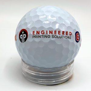 Golf ball printed on a Cylindrical Inkjet Printer